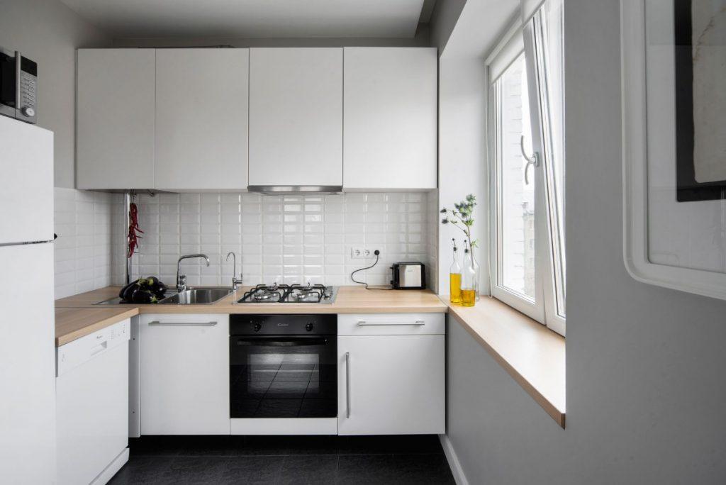 лаконичный дизайн малогабаритной кухни