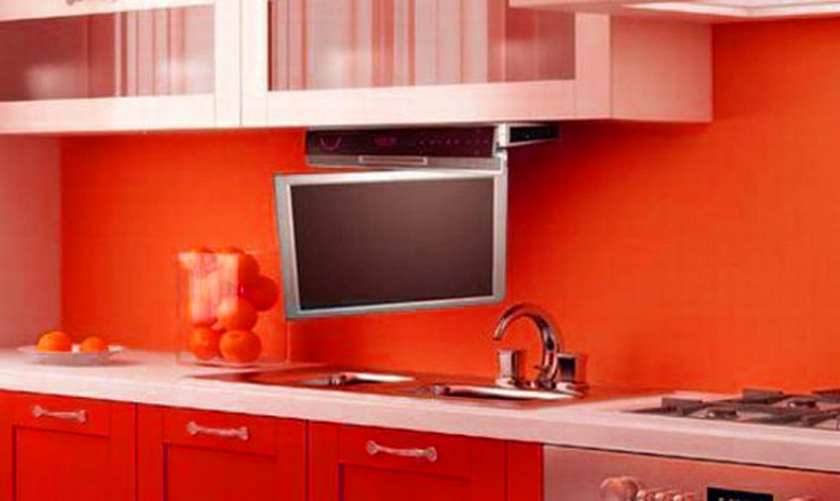 маленький телевизор на кухню фото