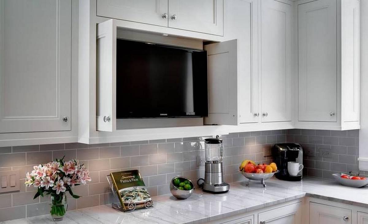 маленький телевизор на кухню в нише