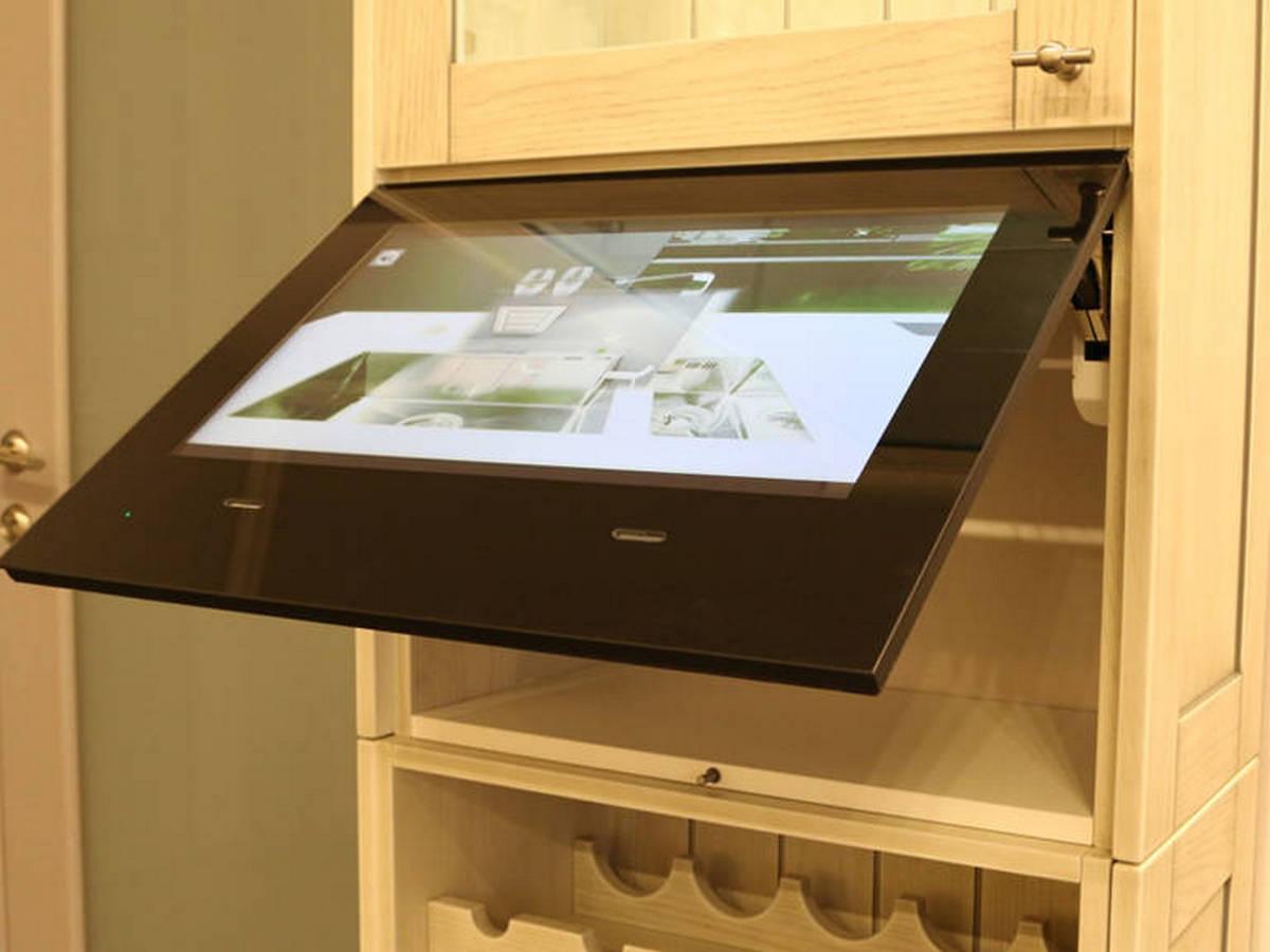 маленький телевизор на кухню встроенный