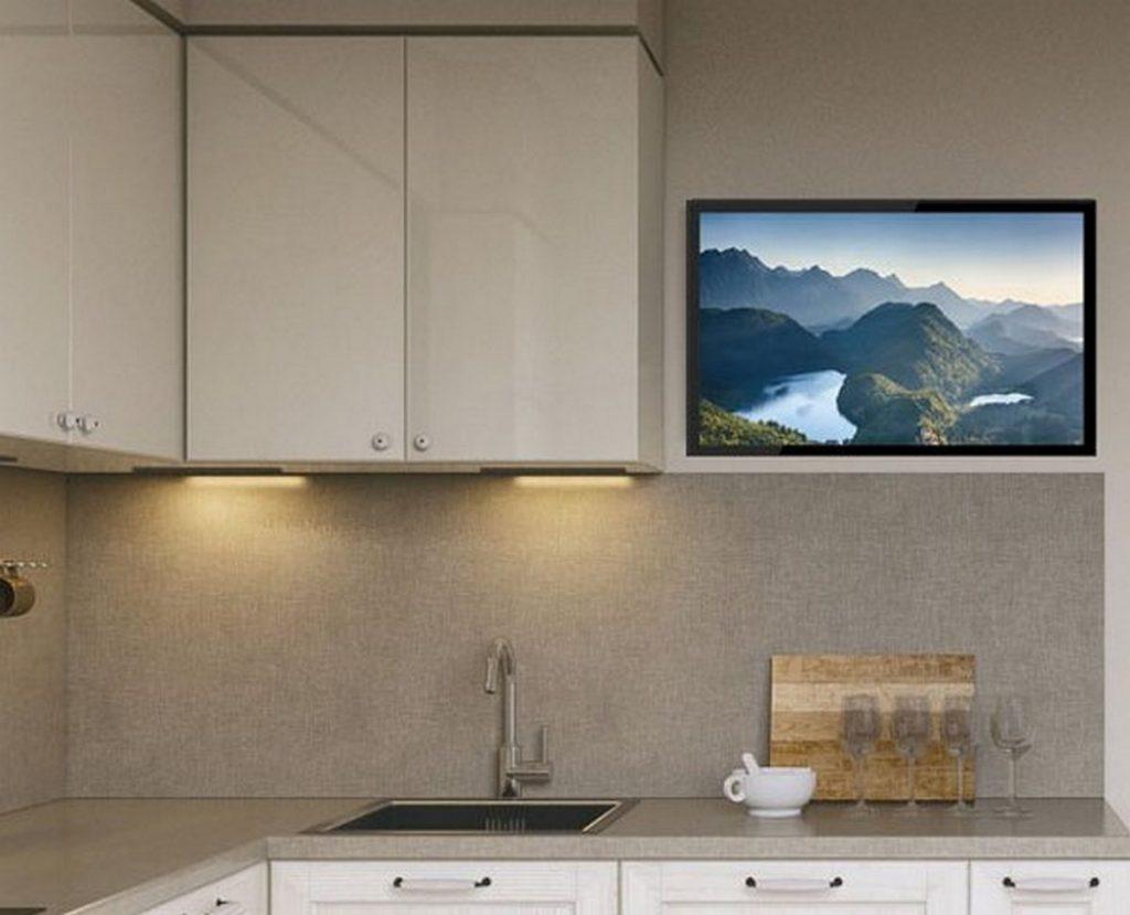 недорогой телевизор на кухню на стену