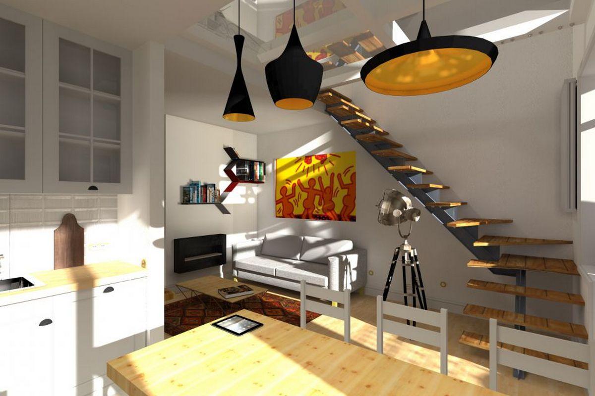 планировка двухуровневой квартиры фото пример