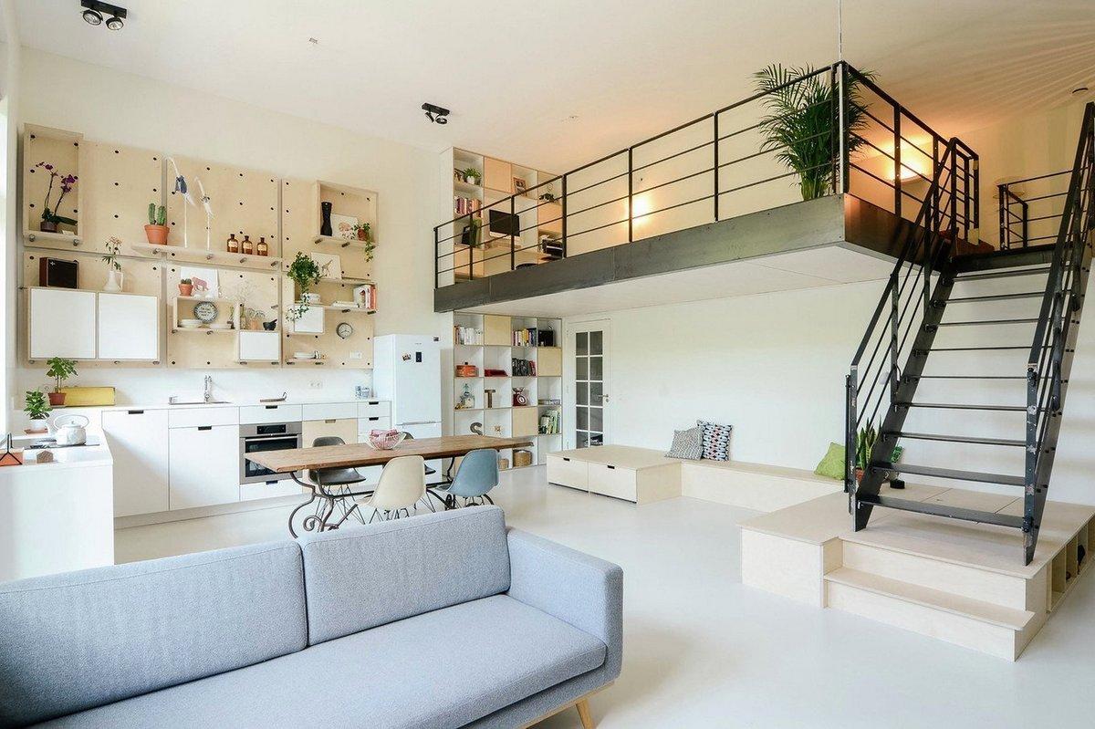 планировка двухуровневой квартиры просторная