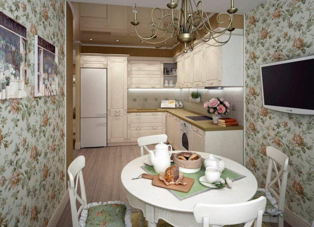 размещение телевизора на кухне фото