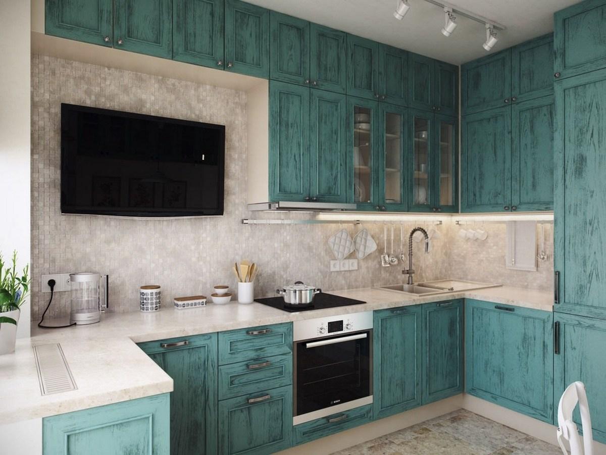 размещение телевизора на кухне пример