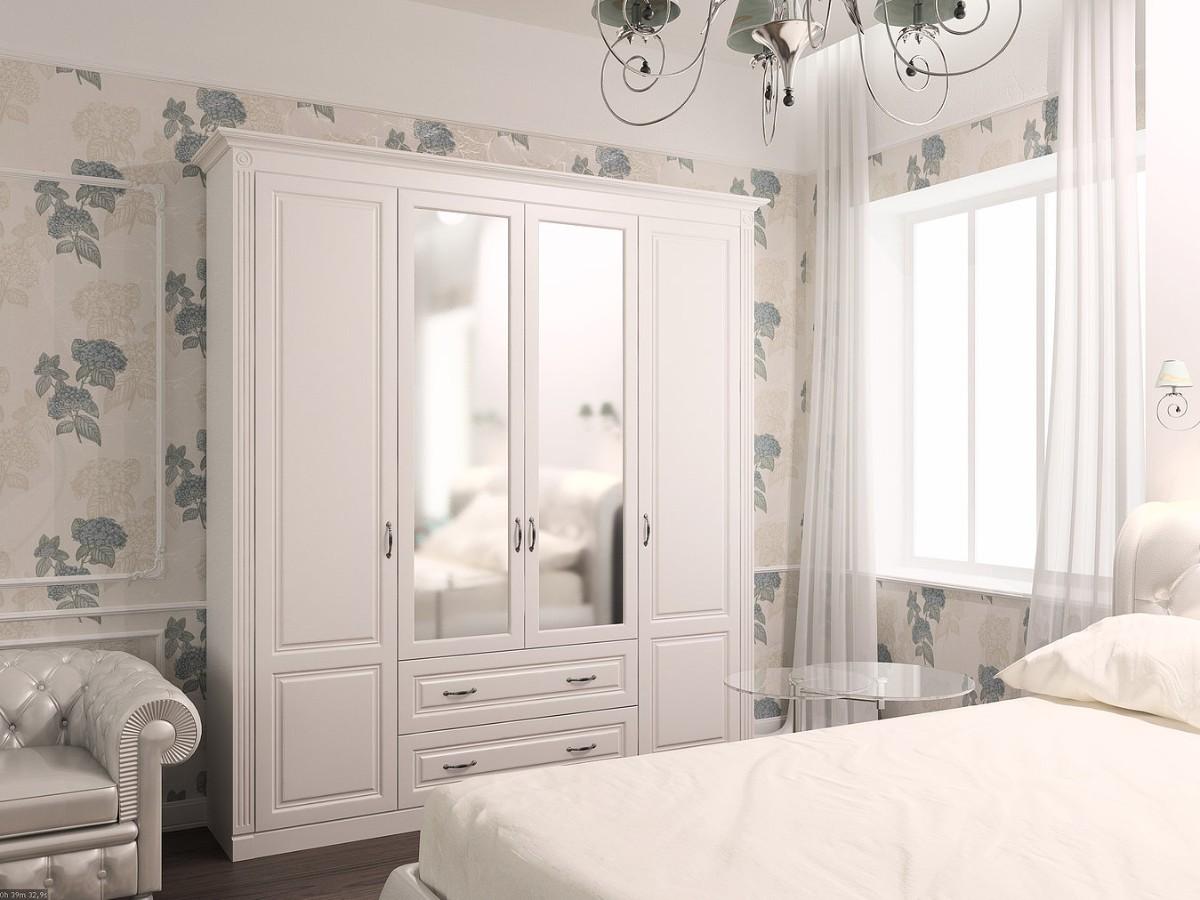 шкаф в спальня белого цвета