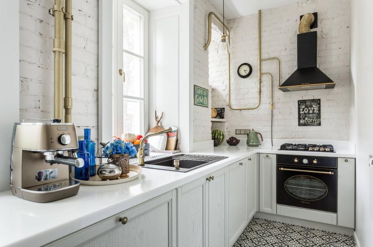 скандинавский дизайн малогабаритной кухни