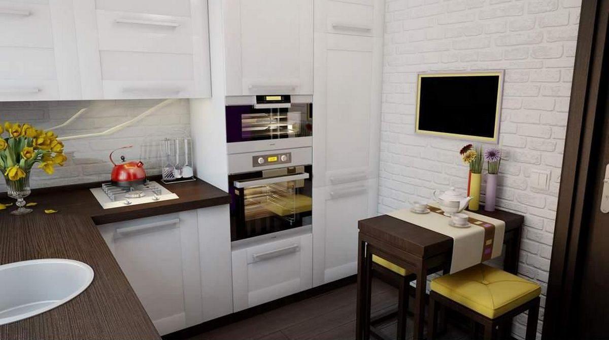 современные кухни в частном доме