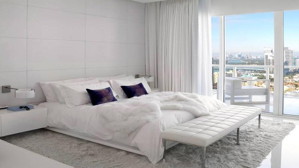 спальня в белом цвете фактуры