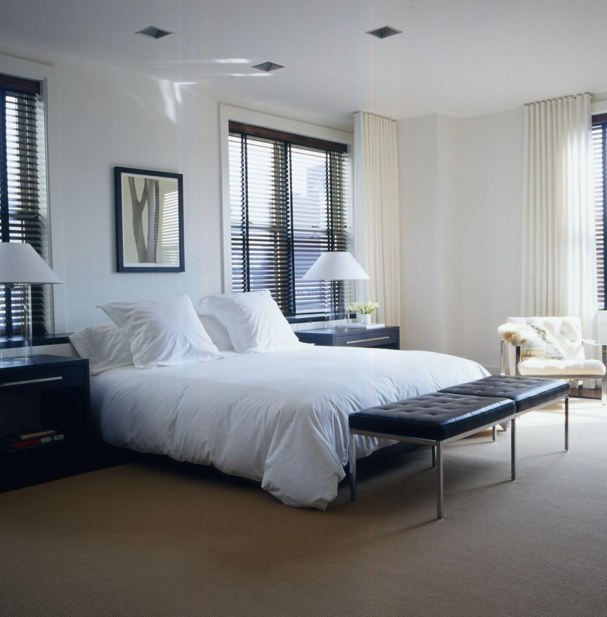 спальня в белом цвете изысканный интерьер