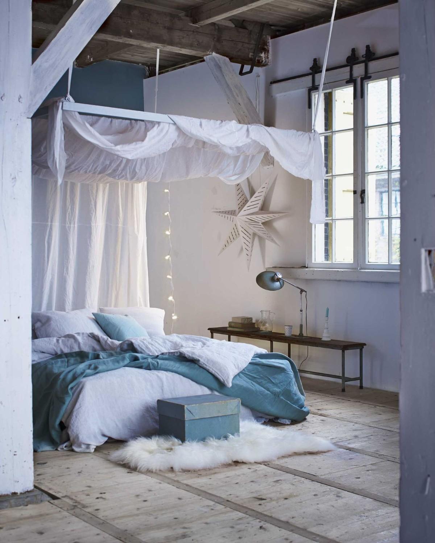 спальня в белом цвете кантри