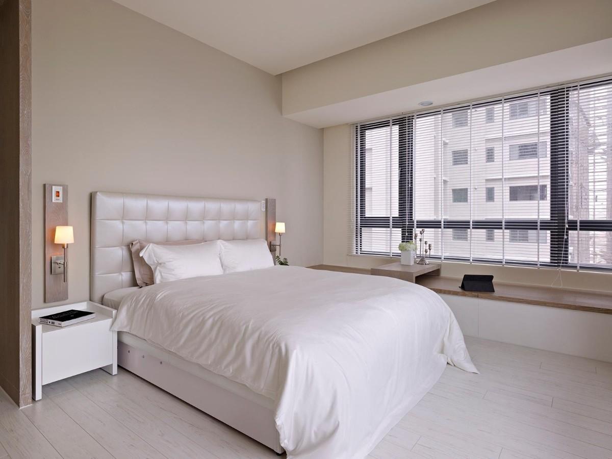 спальня в белом цвете кремовый оттенок