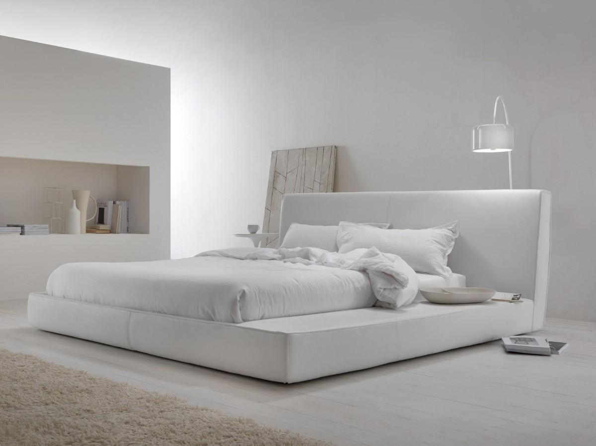 спальня в белом цвете минимализм