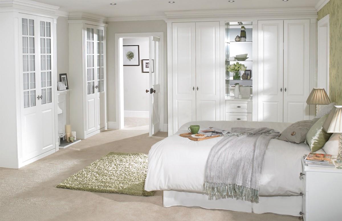 спальня в белом цвете подбор мебели