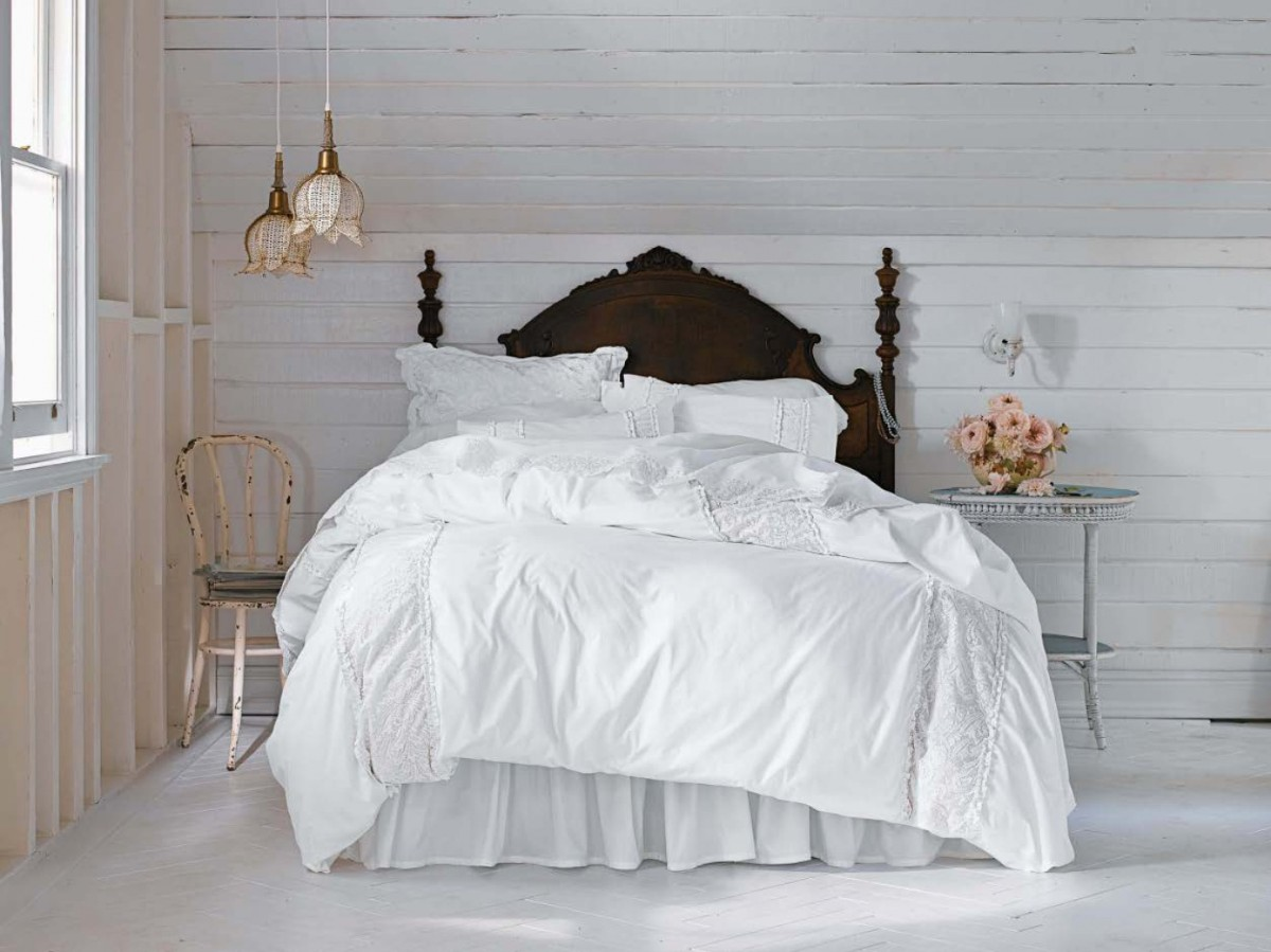 спальня в белом цвете шебби шик