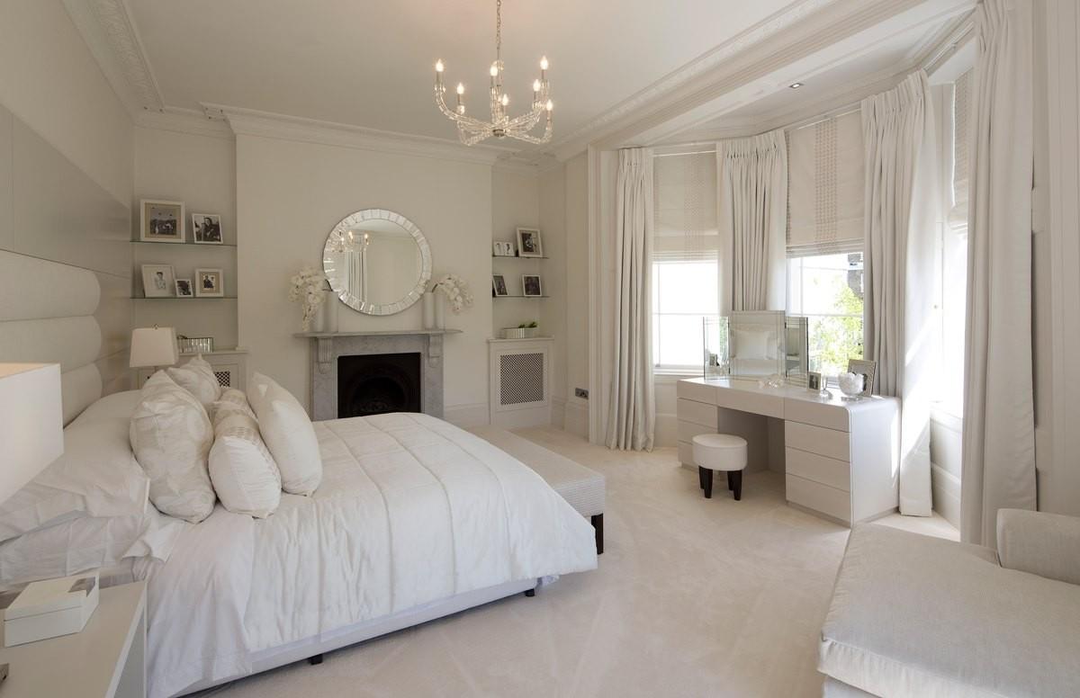спальня в белом цвете оттенок