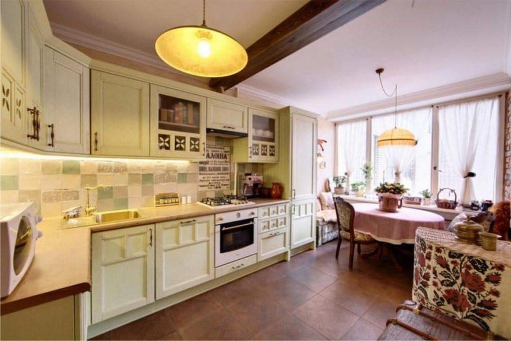 стиль кантри в интерьере кухни на фото