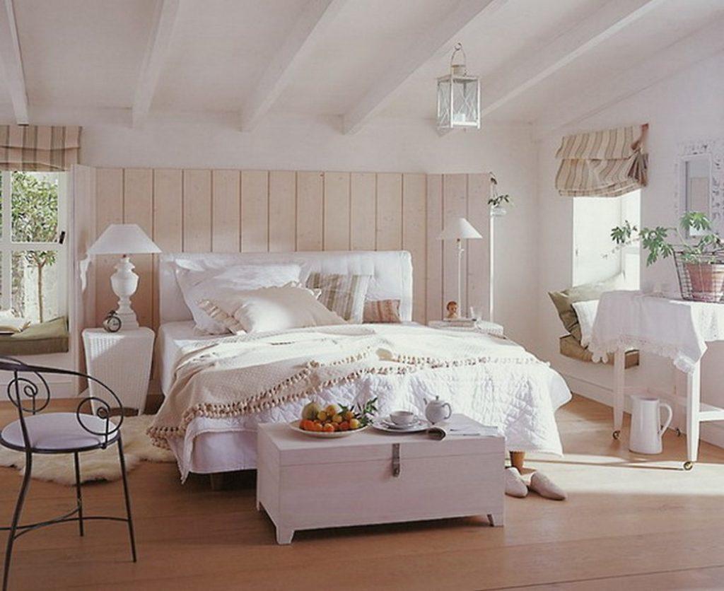 стиль кантри в интерьере квартиры спальня