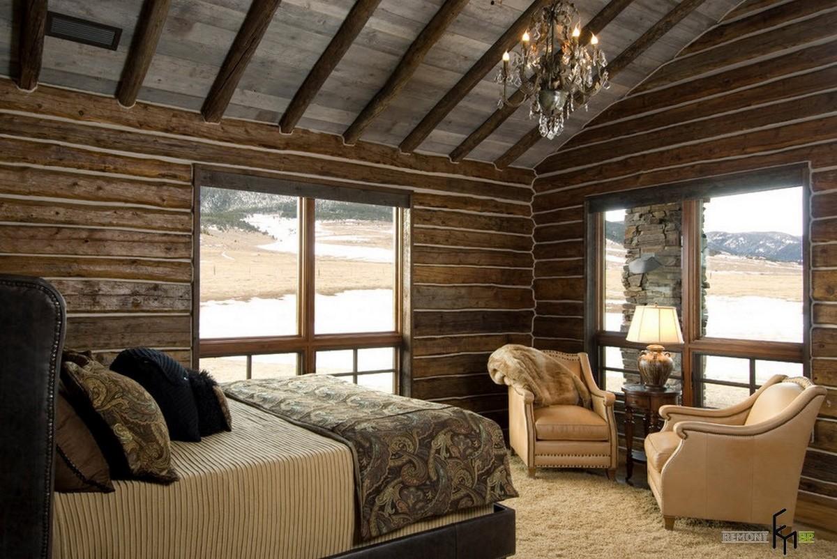 стиль кантри в интерьере квартиры спальня фото