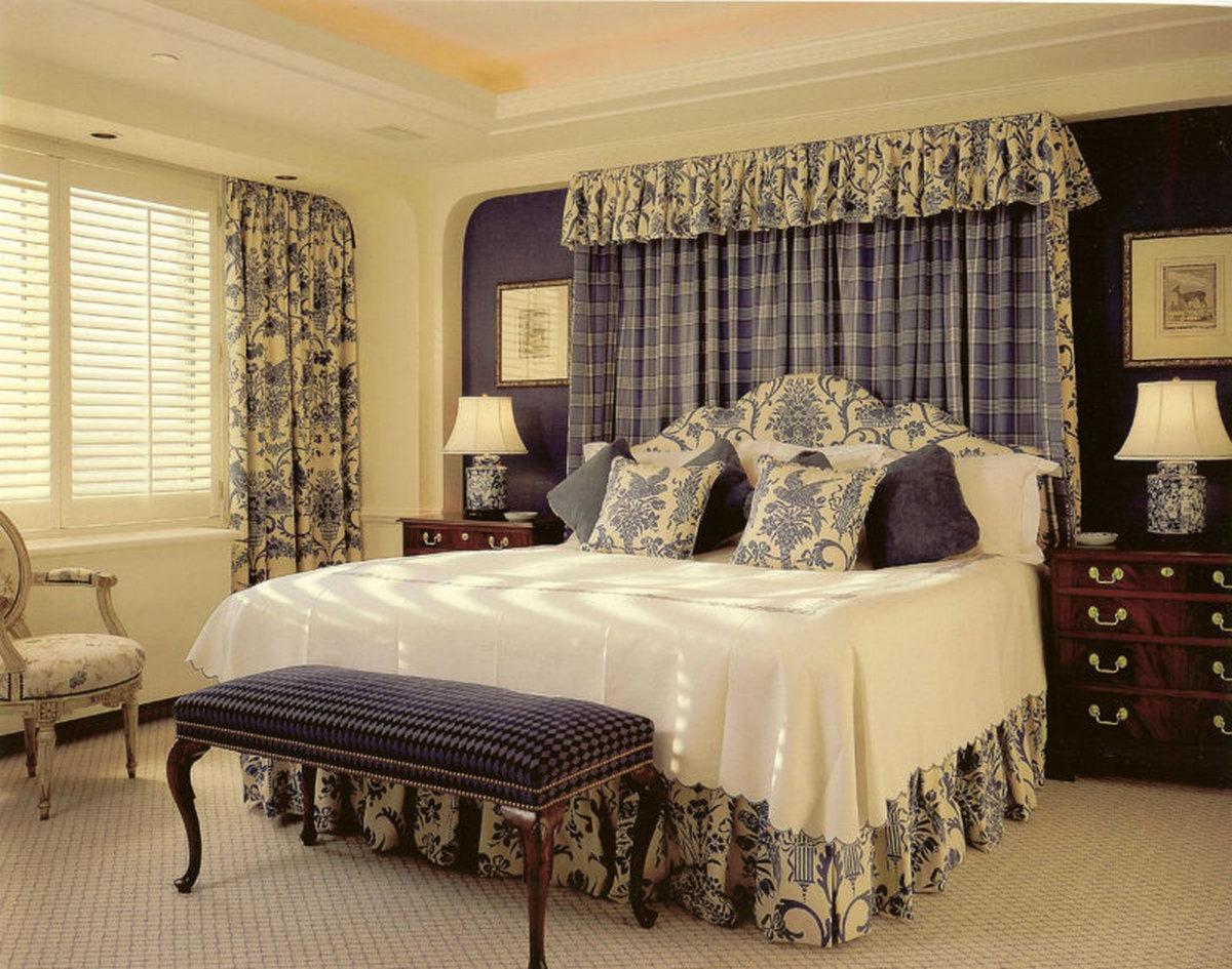 стиль кантри в интерьере квартиры спальня на фото
