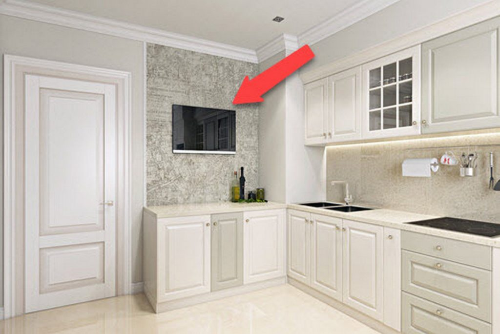 телевизор на кухне расположение