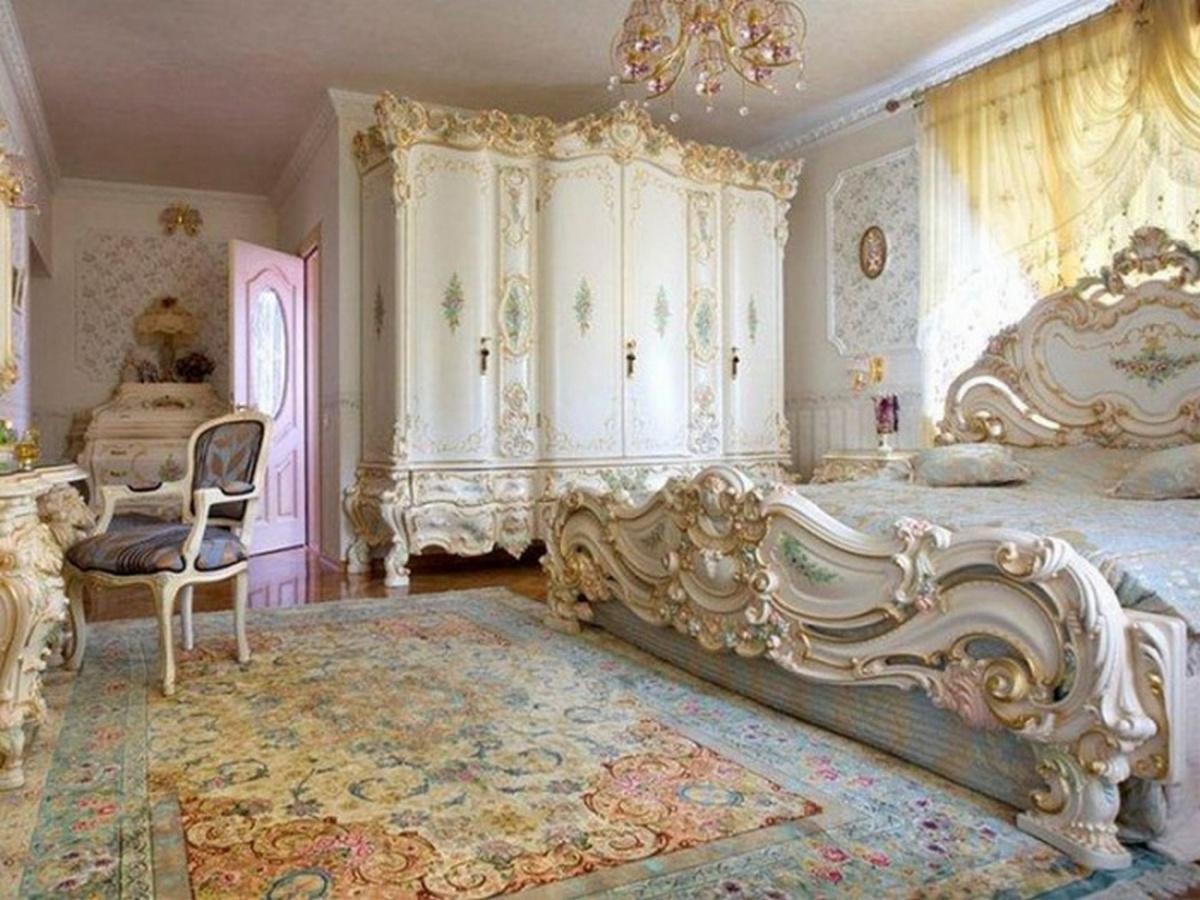 спальня в классическом стиле винтаж