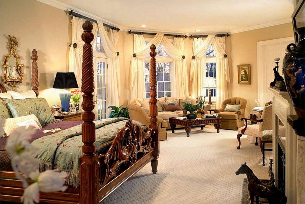 белые спальни в классическом стиле фото пример