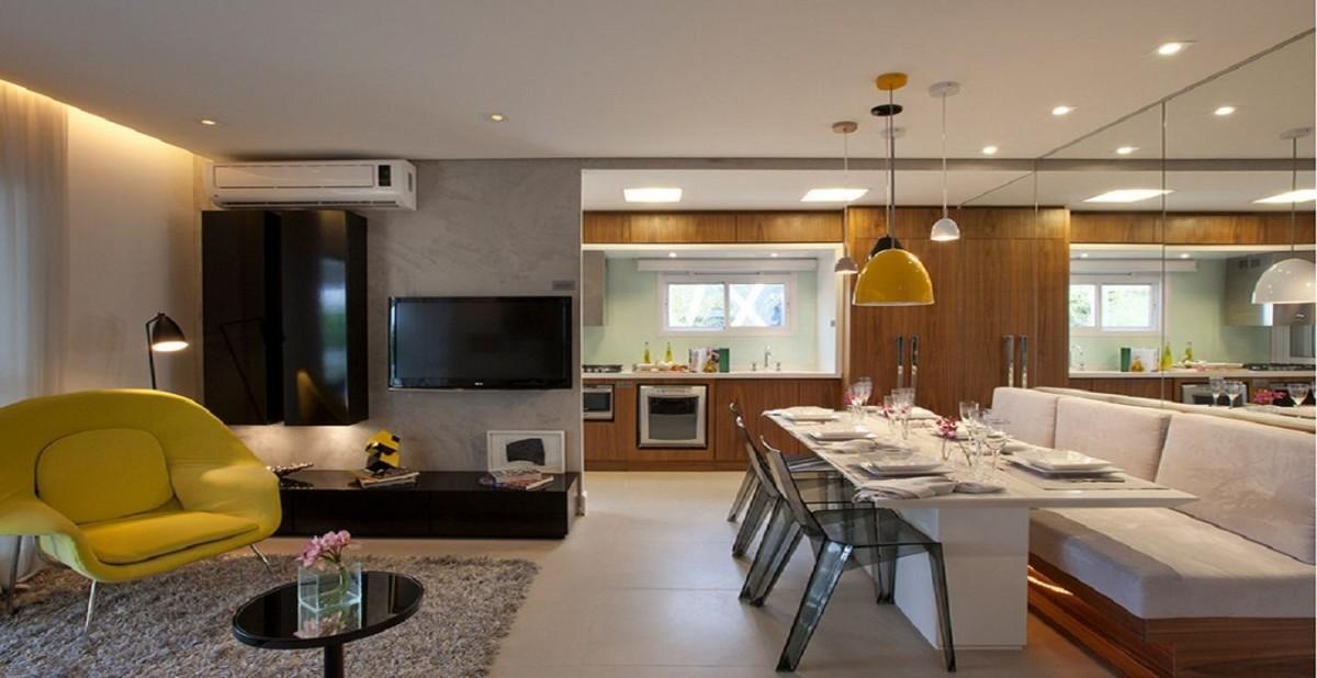 дизайн кухни гостиной в частном доме модерн