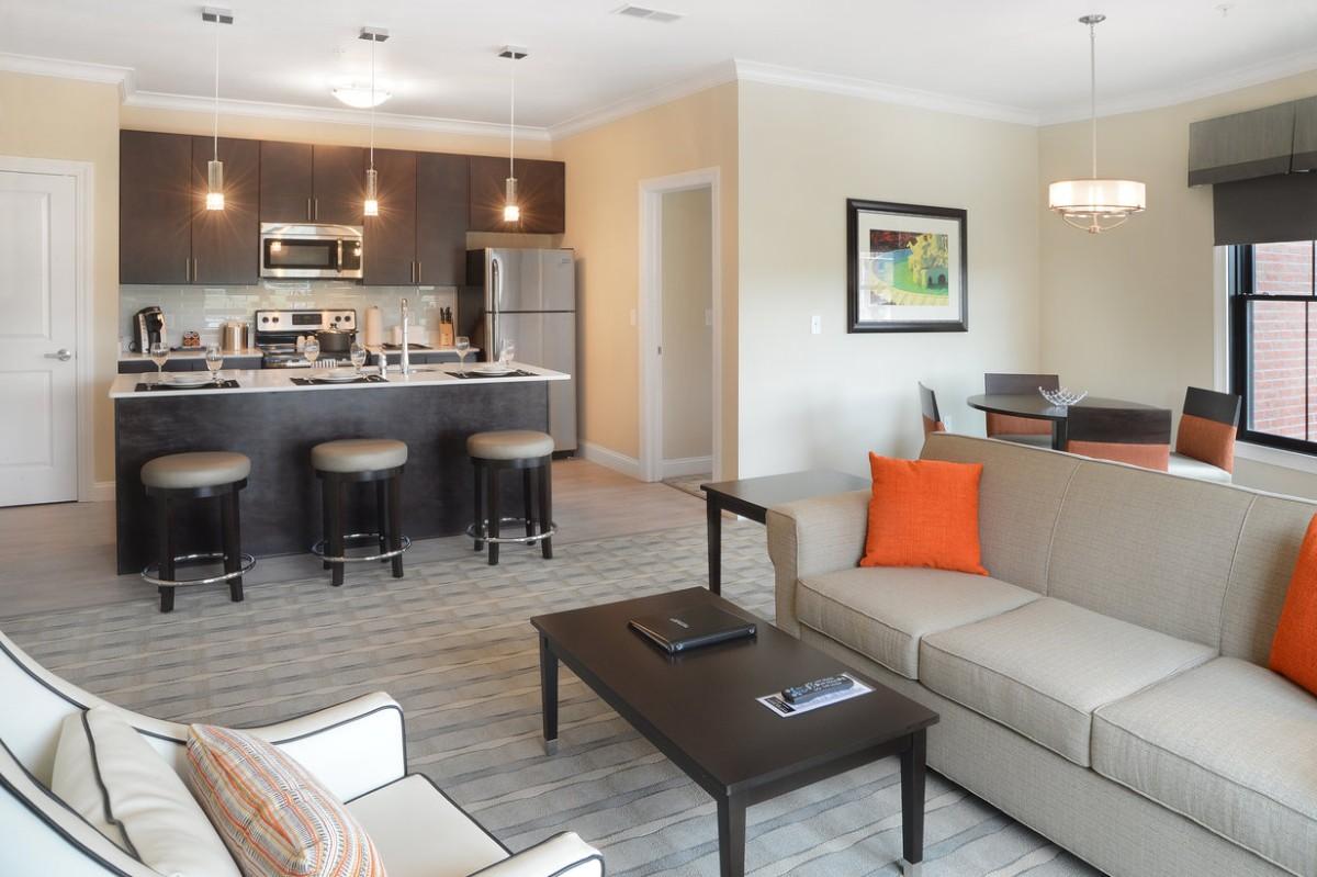 дизайн кухни гостиной в частном доме стиль модерн