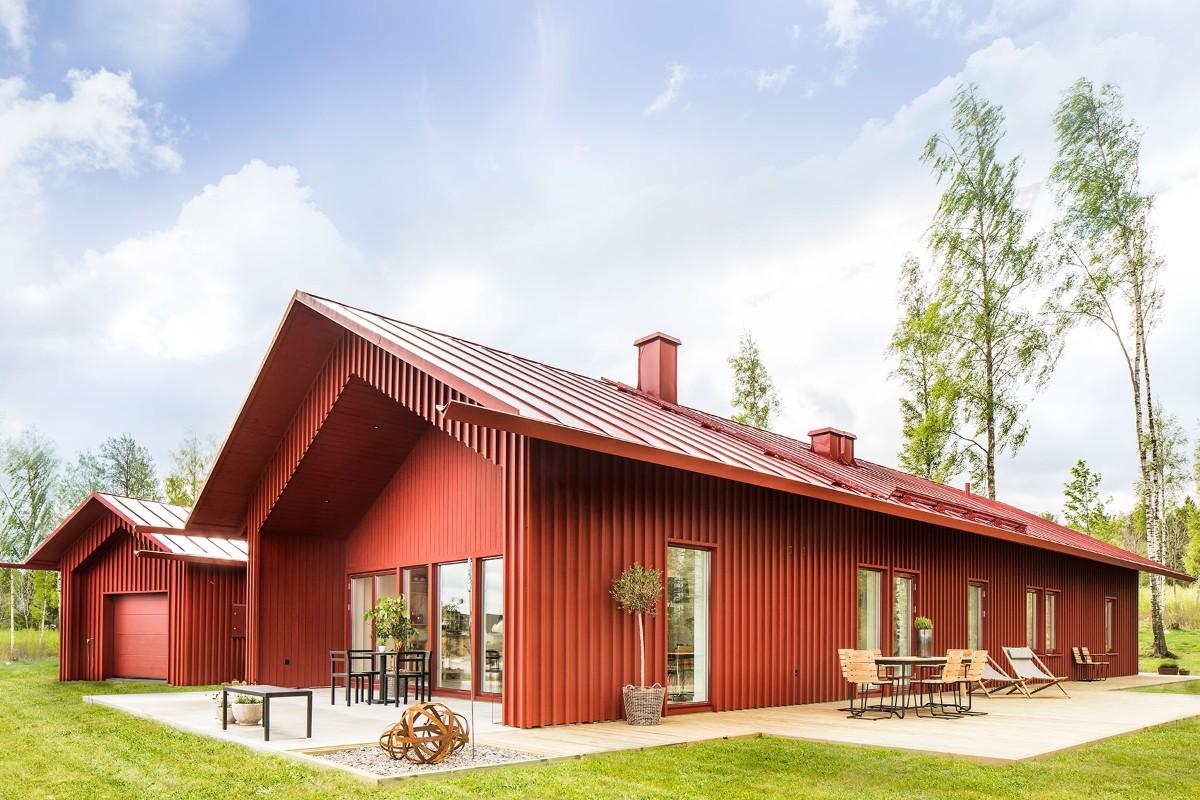 дом из бруса в скандинавском стиле