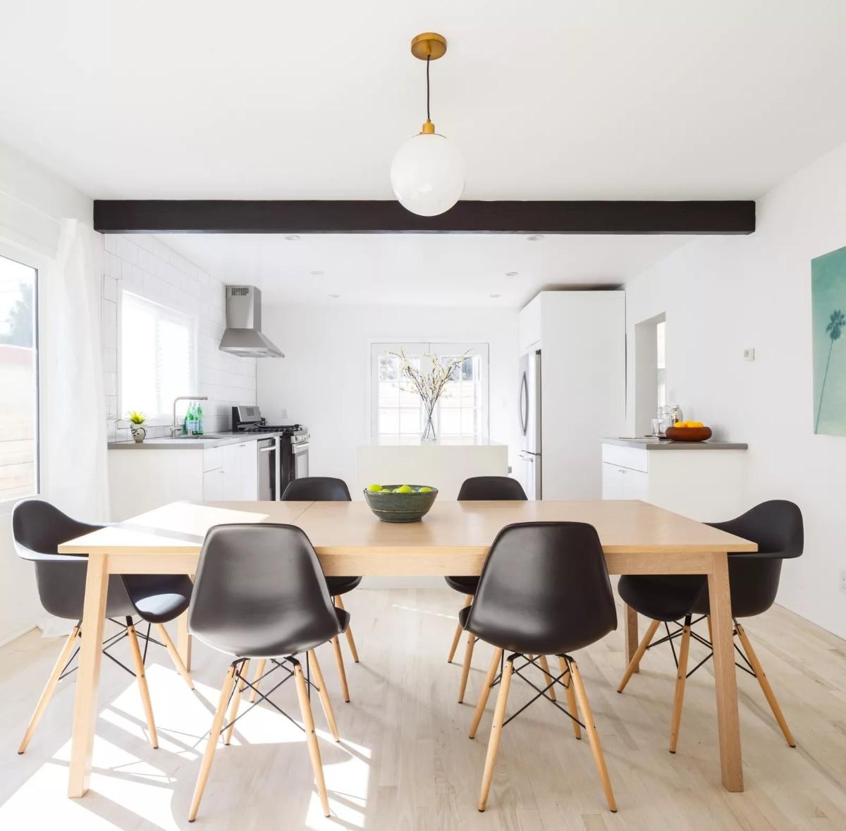 дом в скандинавском стиле дизайн большой кухни