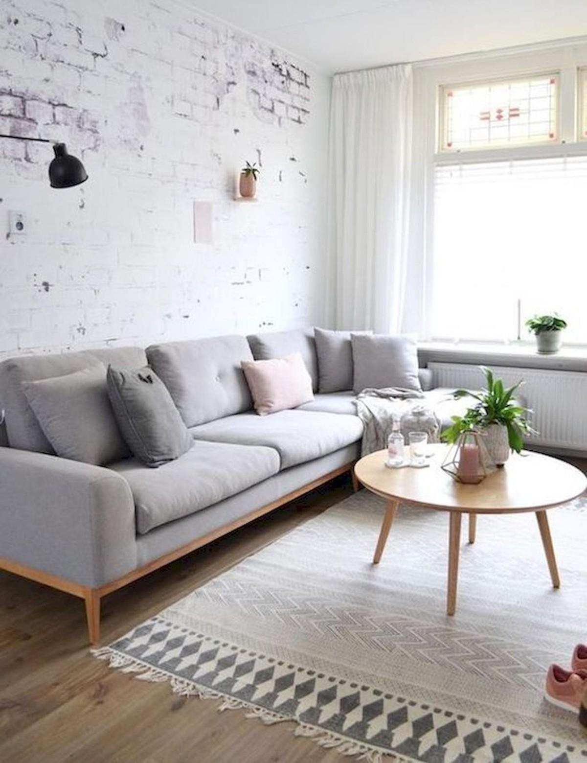 дом в скандинавском стиле дизайн кирпичной стеной