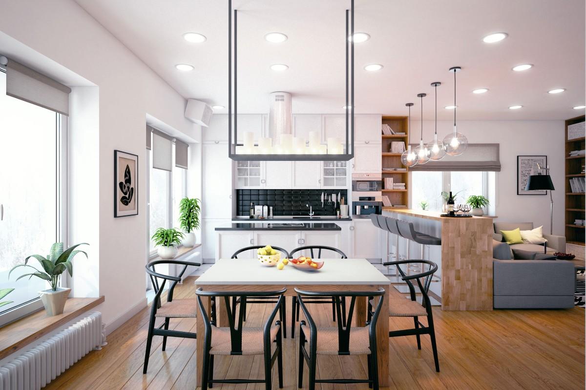 дом в скандинавском стиле фото кухни студии