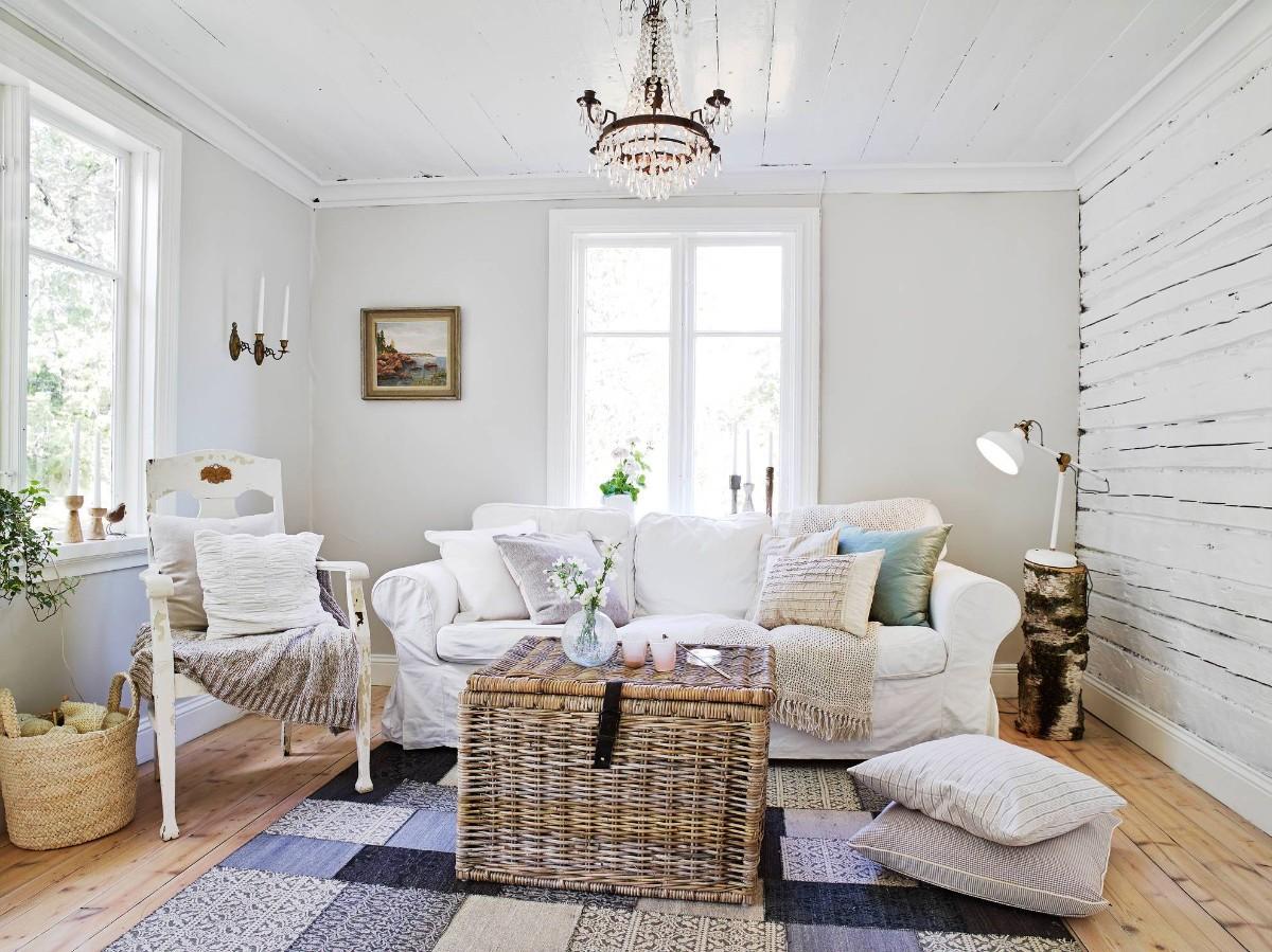 дом в скандинавском стиле интерьер небольшой гостиной