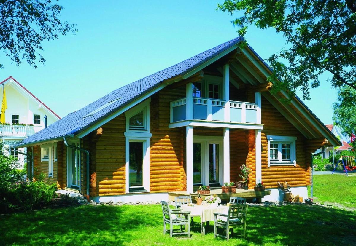 дом в скандинавском стиле из бруса