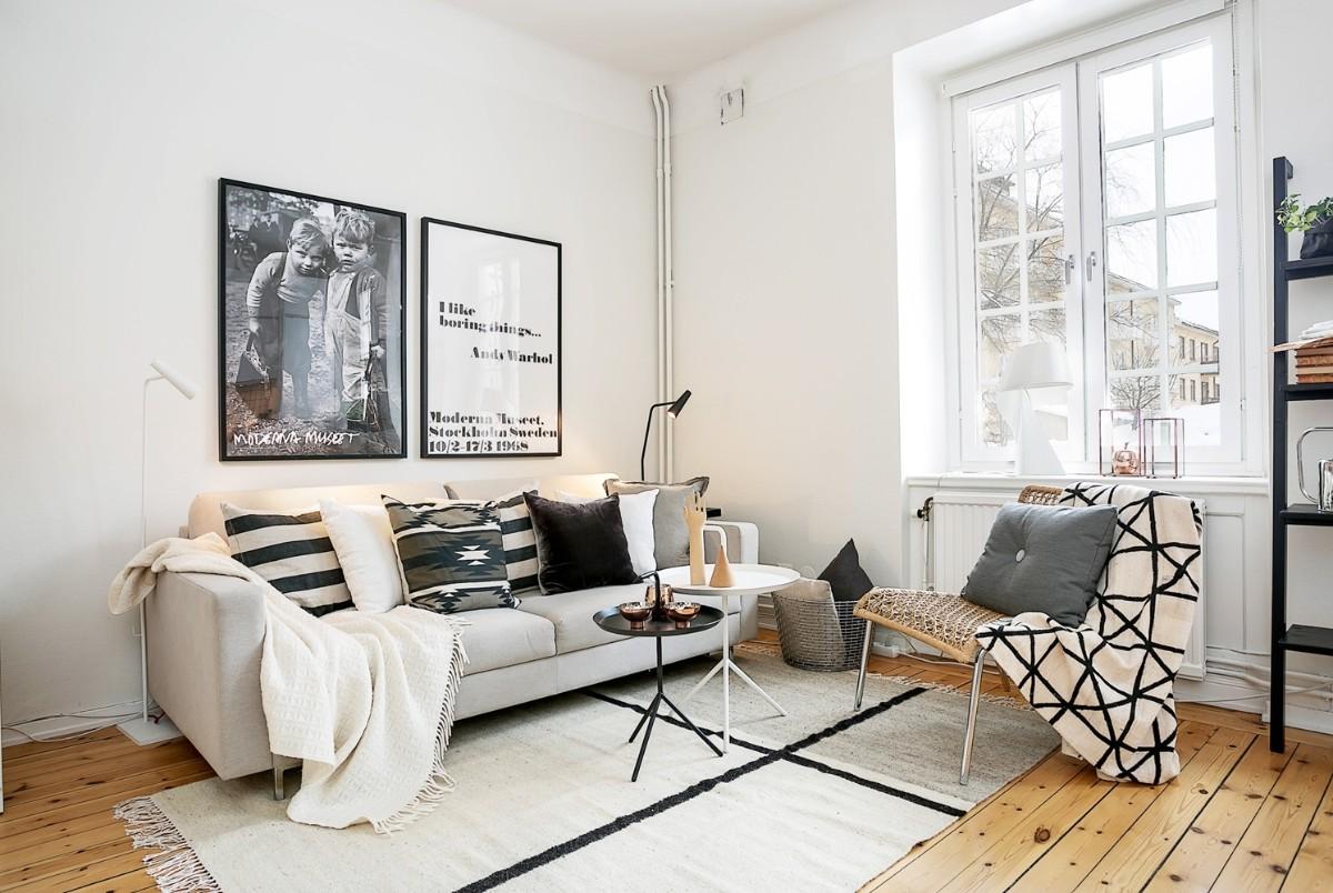 дом в скандинавском стиле лаконичный дизайн гостиной