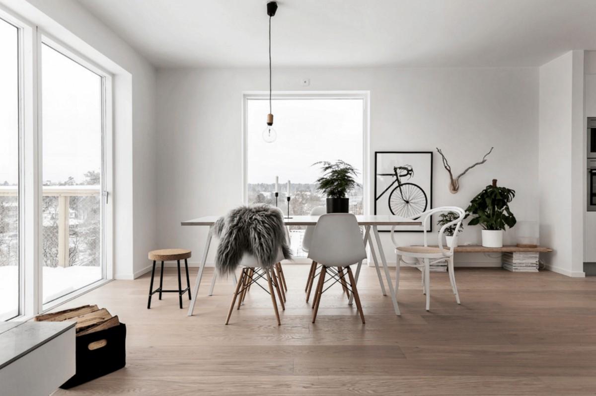 дом в скандинавском стиле стильный интерьер