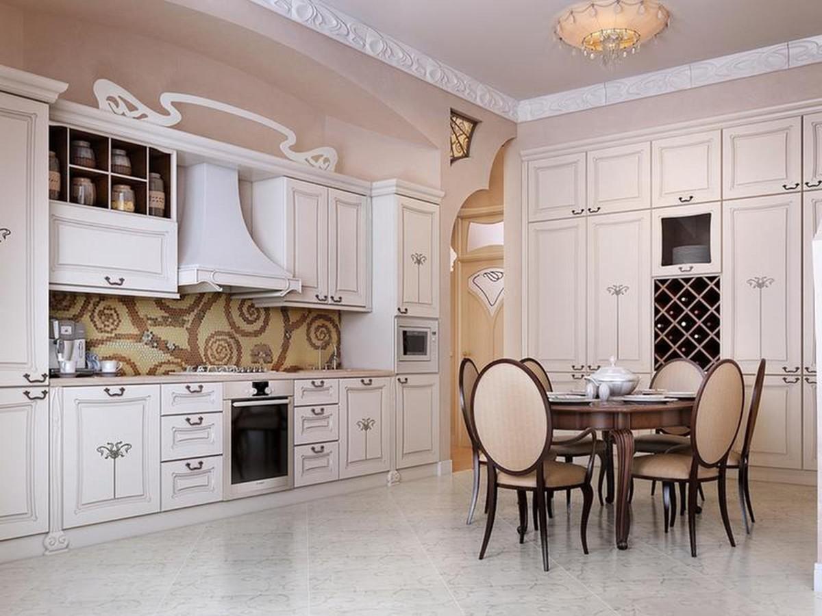 элегантная кухня в классическом стиле молдинг