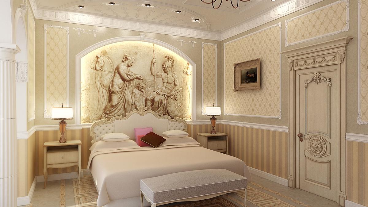 итальянские спальни в классическом стиле фото
