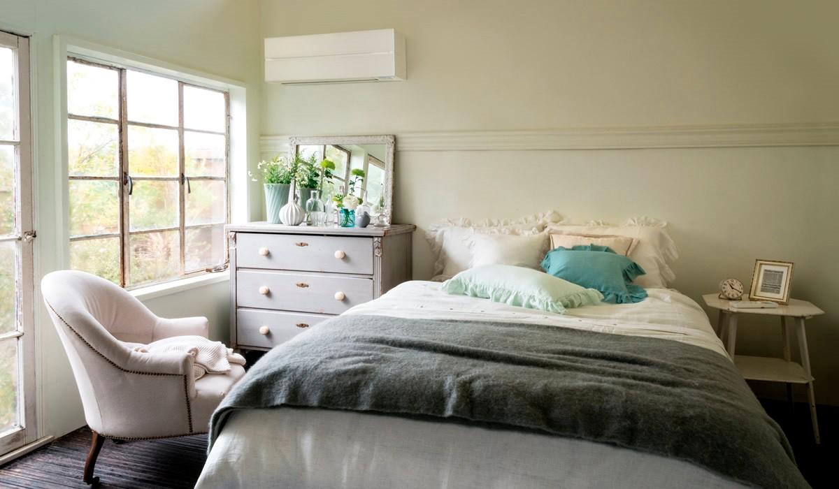 как выбрать встроенный кондиционер для квартиры винтажная спальня