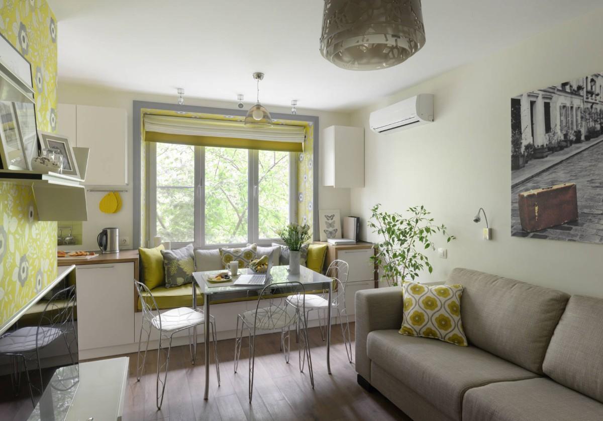 какой выбрать кондиционер для интерьера кухни в жёлтом цвете