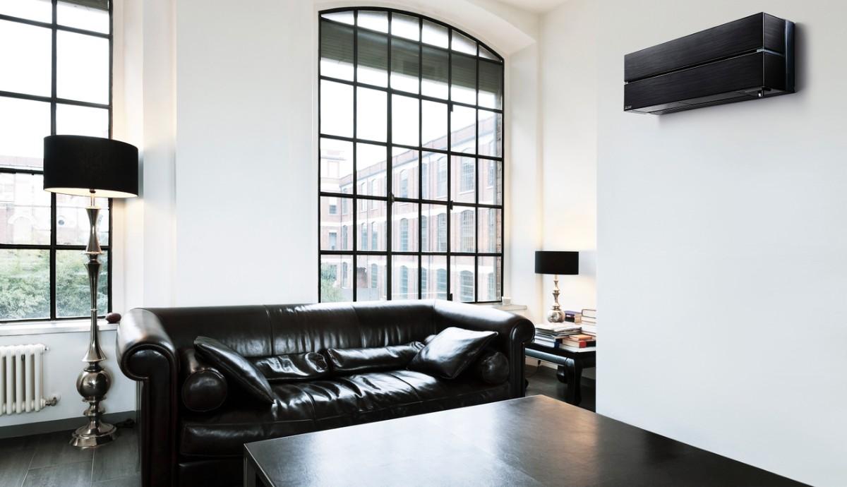 какой выбрать кондиционер в квартиру чёрно-белый декор