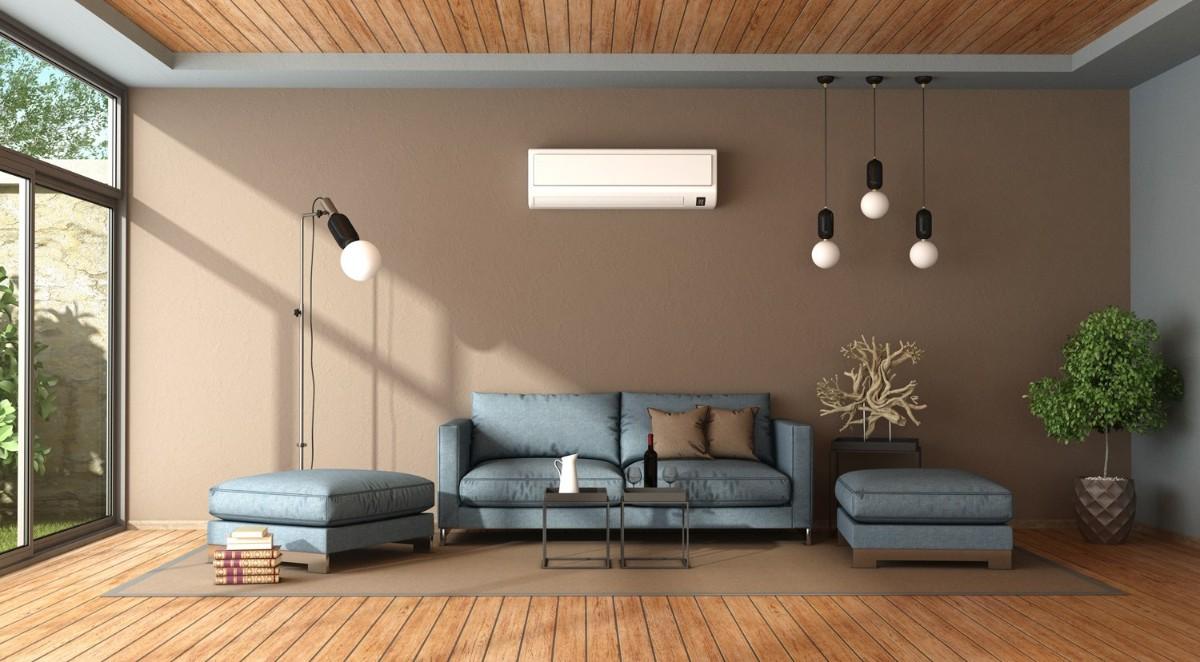 какой выбрать кондиционер в квартиру дизайн гостиной с панорамными окнами