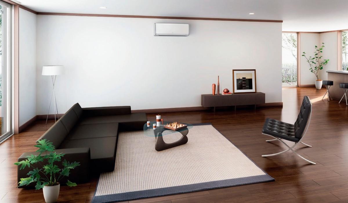 какой выбрать кондиционер в квартиру минималистическая гостиная