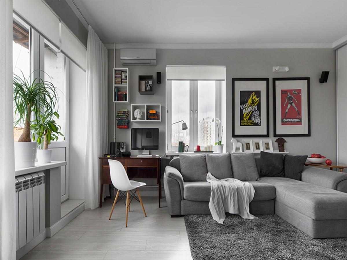 какой выбрать кондиционер в квартиру серый интерьер
