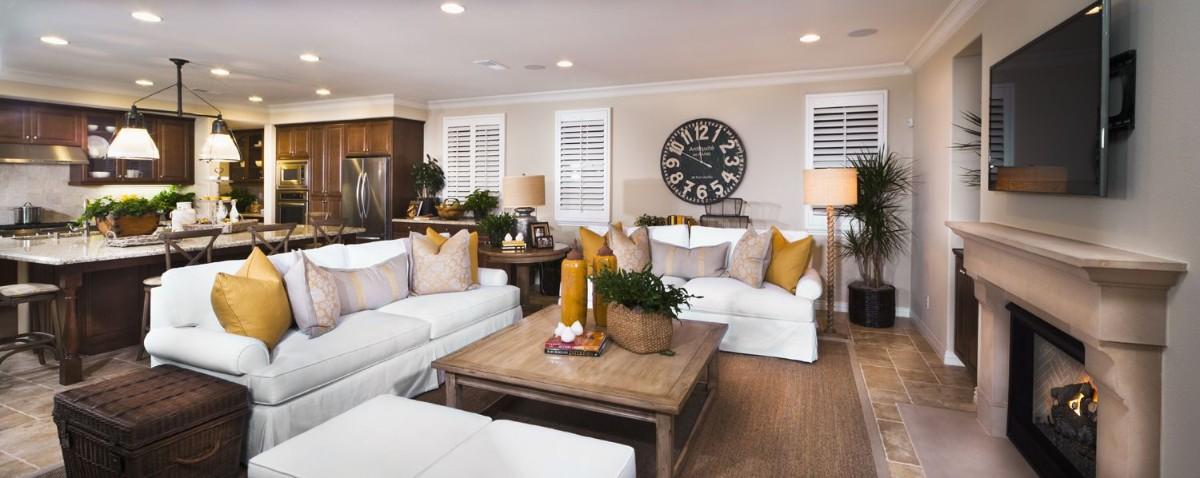классический дизайн кухни гостиной в частном доме