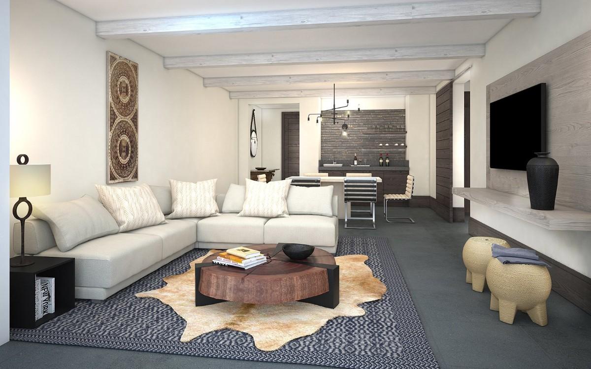 кухня гостиная в частном доме дизайн интерьер
