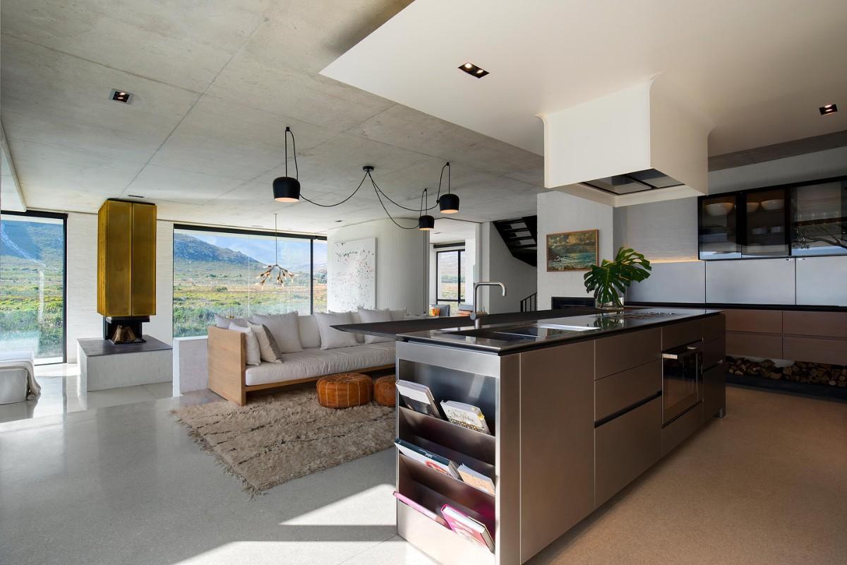 кухня гостиная в частном доме в стиле ретро