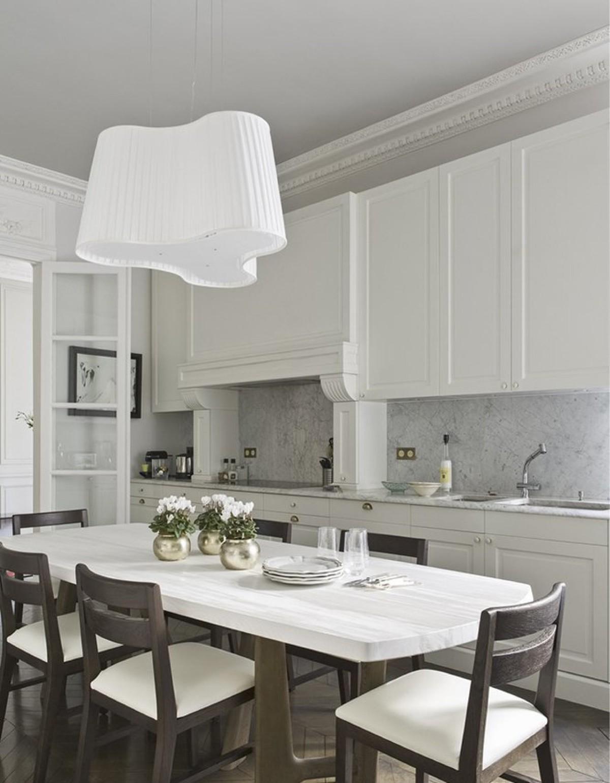 кухня в классическом стиле изысканный интерьер белого цвета