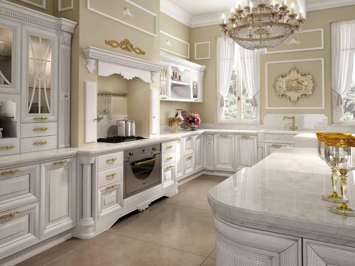 кухня в классическом стиле изысканный интерьер